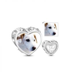 Cute Dog Photo Charm Sterling Silver