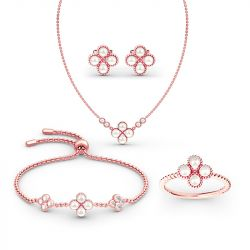 Clover Cultured Pearl Sterling Silver Jewelry Set