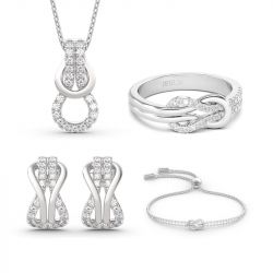 Infinity Love Sterling Silver Jewelry Set