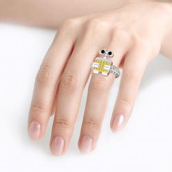 Robot WALL-E Inspired Sterling Silver Ring