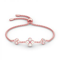 Clover Cultured Pearl Sterling Silver Bracelet