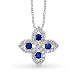 Lucky Flower Sterling Silver Necklace