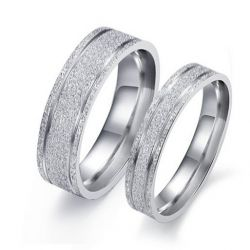 Simple Sterling Silver Band Set