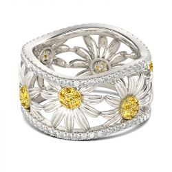 Daisy Sterling Silver Women's Band