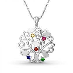 Dancing Tree Personalized Sterling Silver Necklace