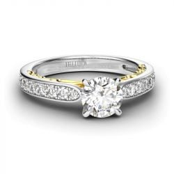 Classic Round Cut Sterling Silver Engagement Ring