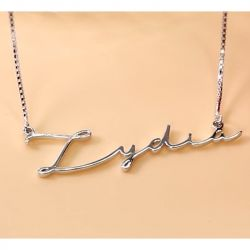 Silver Signature Style Name Necklace