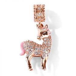 Rose Gold Tone Unicorn Sterling Silver Jewelry Set