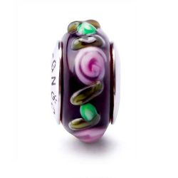 Flowers and Leaves Murano Glass Bead Charm