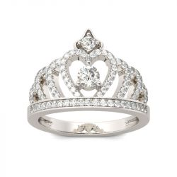 Classic Crown Sterling Silver Ring