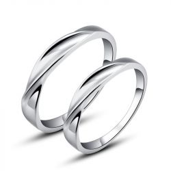 Twist Couple Rings Stainless Steel