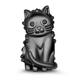 Black Cat S925 Sterling Silver Charm