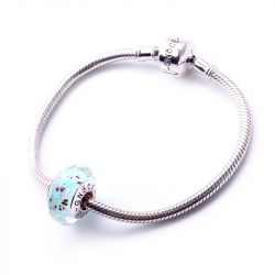 Colorful Dots Faceted Glass Charm
