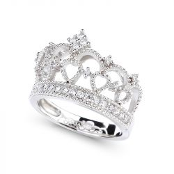 Crown Design Sterling Silver Ring
