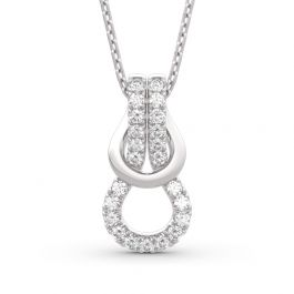 Infinity Love Sterling Silver Necklace