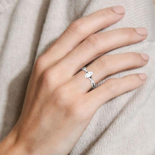 Jeulia Moissanite Twist Marquise Cut Gold Ring