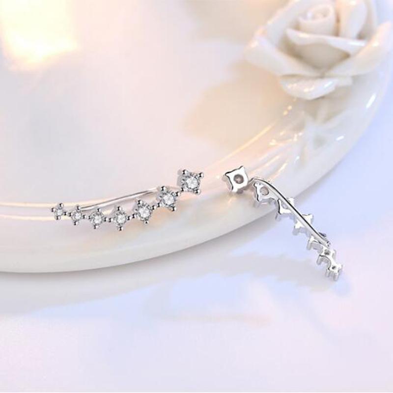 31c996b43 Simple Classic Sterling Silver Earrings Climbers - Jeulia Jewelry