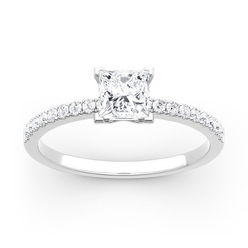 Moissanite Princess Cut Gold Ring