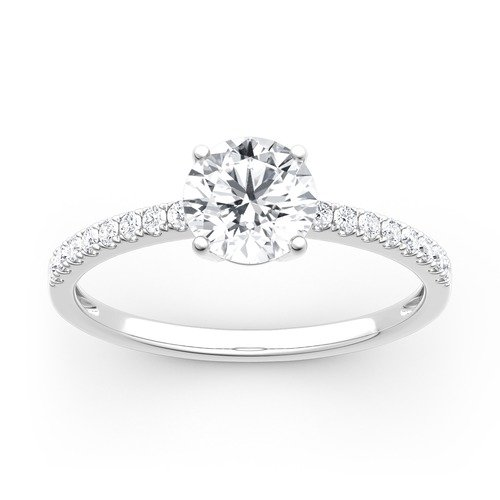 Moissanite Round Cut Gold Ring