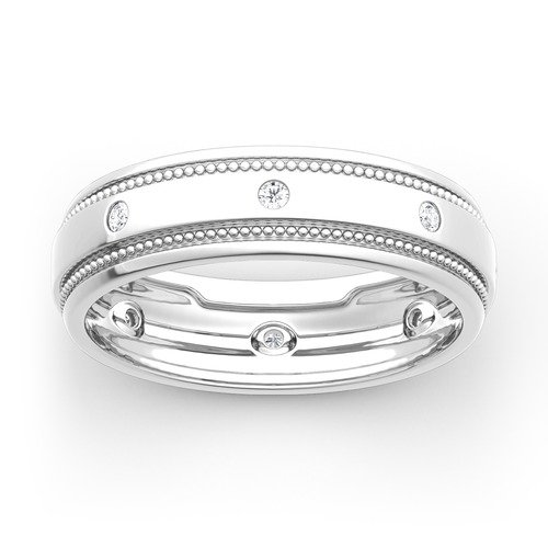 Jeulia Moissanite Men's Gold Band