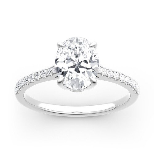 Jeulia Moissanite Ovalschliff Gold Ring