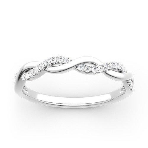Jeulia Moissanite Rundschliff Twist Ring