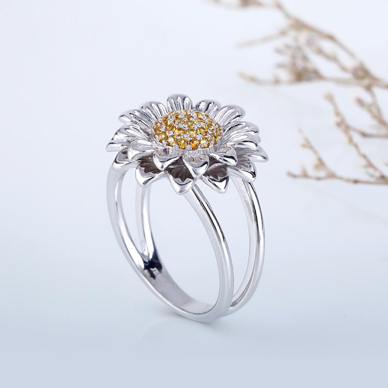 c0f84c2ea Sunflower Sterling Silver Ring - Jeulia Jewelry
