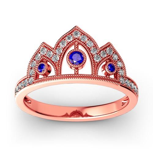Milgrain Crown Sterling Silver Ring