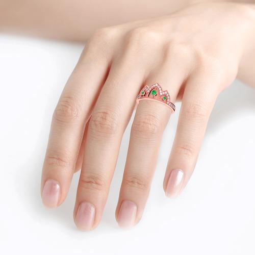 Jeulia Milgrain Crown Sterling Silver Ring