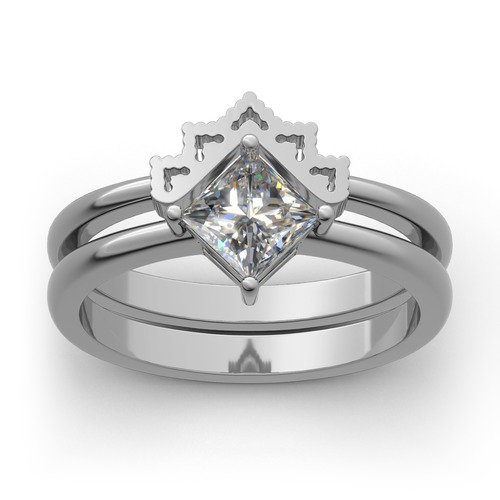 Crown Sterling Silver Ring Set