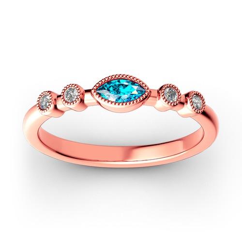 Jeulia Stackable Milgrain Sterling Silver Ring
