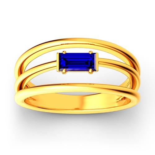 Split Shank Emerald Cut Sterling Silver Ring