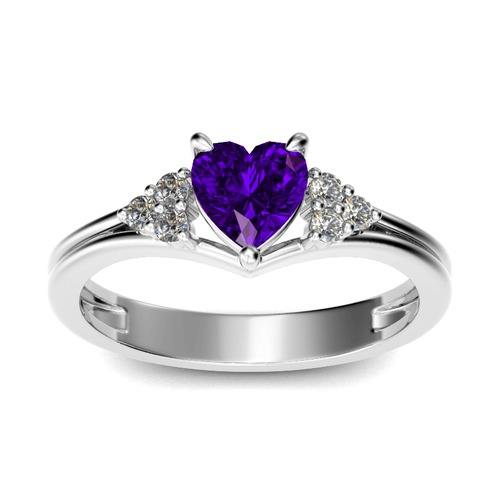 Classic Heart Cut Sterling Silver Ring