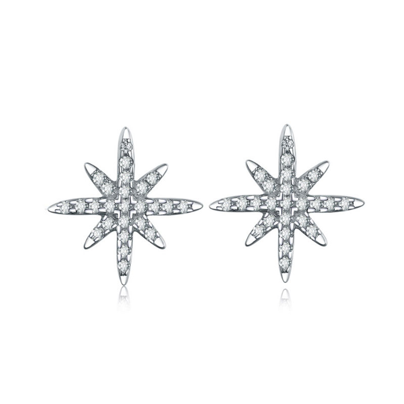 Buy Star Shape Sterling Silver Stud Earrings, JEES0012 for $45.00 in Jeulia store