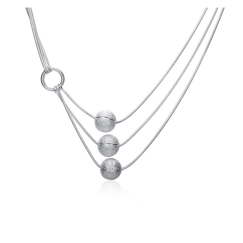 Buy Unique Sterling Silver Necklace, JENF0008 for $65.00 in Jeulia store