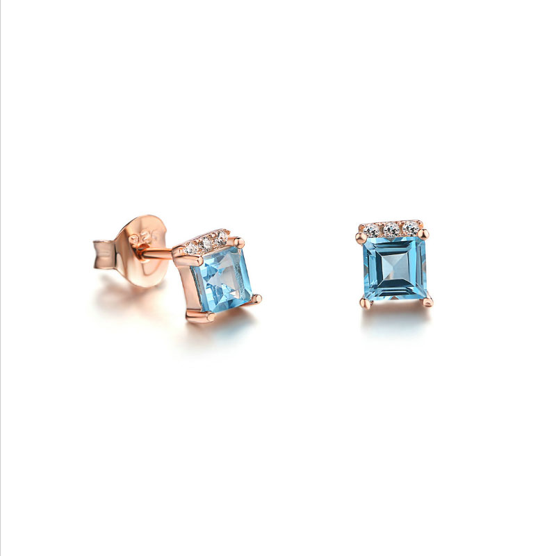 Buy Classic Princess Cut Sterling Silver Stud Earrings, JEES0010 for $75.00 in Jeulia store