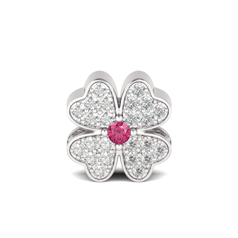 Buy Four-leaf Clover Charm Sterling Silver, AICS21 for $722.75 in Jeulia store