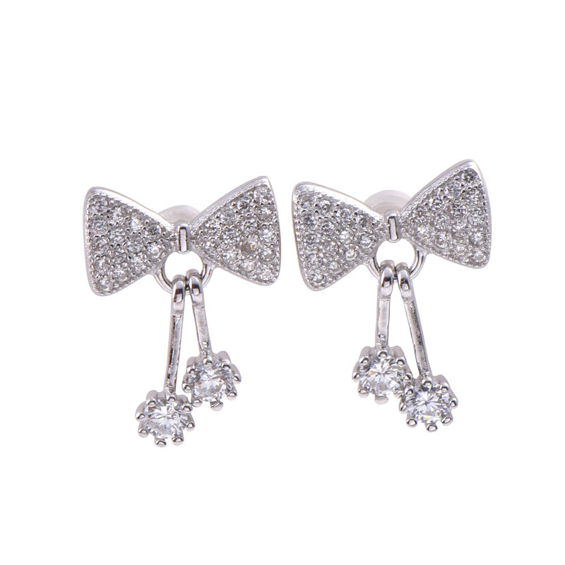 Buy Bowknot Earring Drops, JEED0021 for $75.00 in Jeulia store