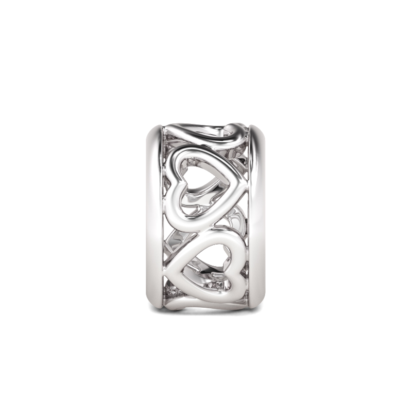 Buy Heart to Heart Charm Sterling Silver, AJCS16 for $29.00 in Jeulia store