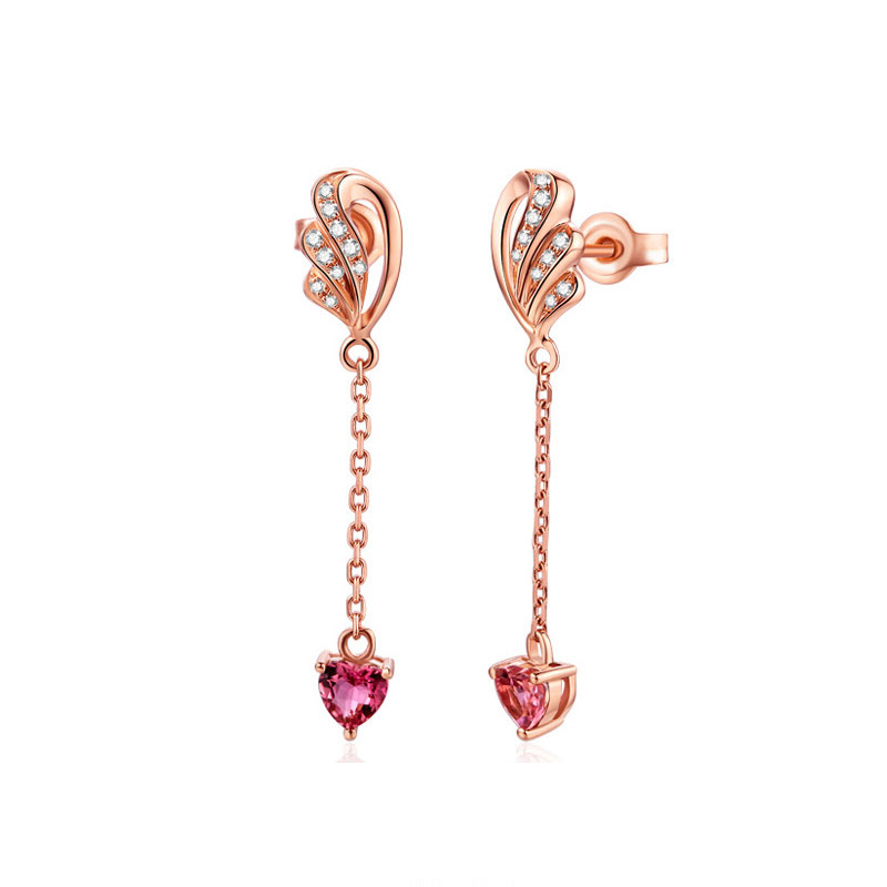 Buy Rose Gold Tone Wings Earring Drops, JEED0010 for $55.00 in Jeulia store