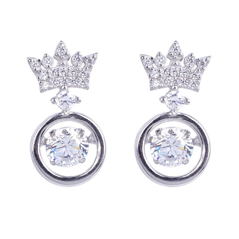 Buy Crown Earring Drops, JEED0024 for $75.00 in Jeulia store