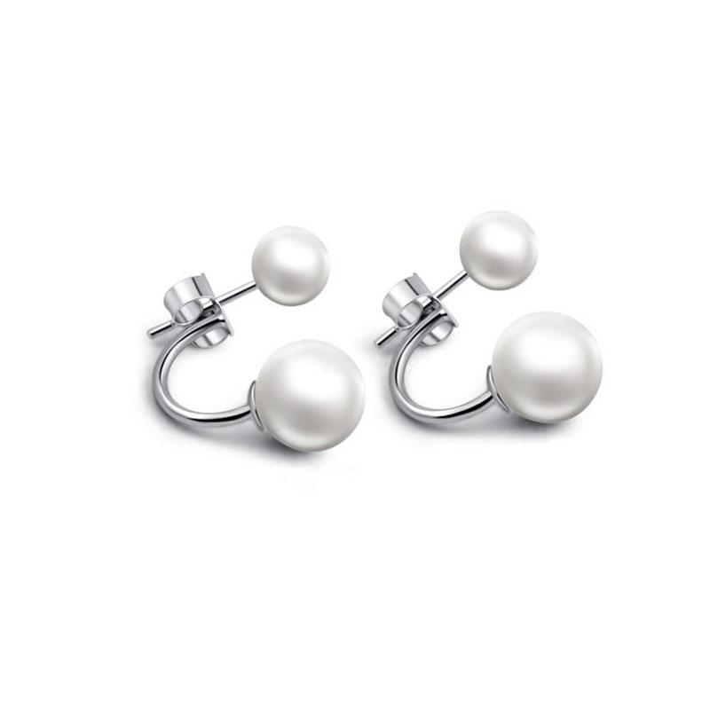 Simple Created Pearl Ear Jackets, JEEJ0002
