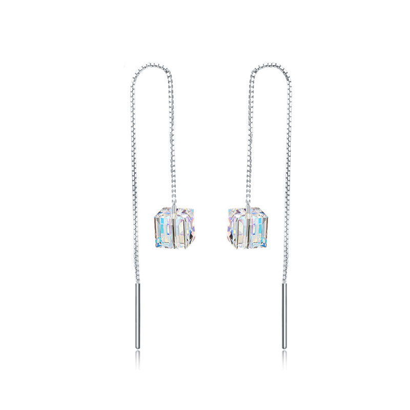 Buy Tassel Cubic Crystal Earring Drops, JEED0011 for $56.00 in Jeulia store