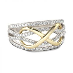 50 Off Two Tone Infinity Sterling Silver Women S Band