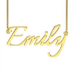 Gold Tone Italianno Regular Style Name Necklace