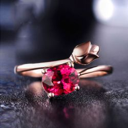 Floral Design Sterling Silver Adjustable Ring