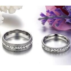 Shining Frosted Titanium Steel Couple Rings