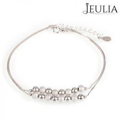 Double Chain Bead Design Sterling Silver Bracelet