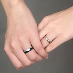 Chic Titanium Steel Couple Rings