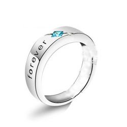 Jeulia Engraved Sterling Silver Band